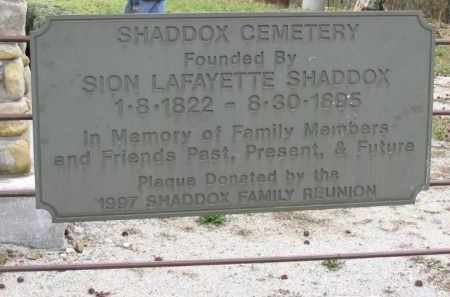 *SHADDOX CEMETERY SIGN,  - Newton County, Arkansas |  *SHADDOX CEMETERY SIGN - Arkansas Gravestone Photos