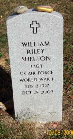 SHELTON  (VETERAN WWII), WILLIAM RILEY - Newton County, Arkansas | WILLIAM RILEY SHELTON  (VETERAN WWII) - Arkansas Gravestone Photos