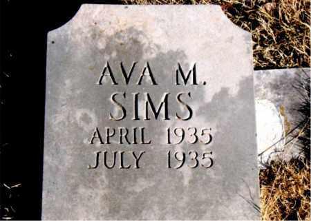 SIMS, AVA  M. - Newton County, Arkansas | AVA  M. SIMS - Arkansas Gravestone Photos