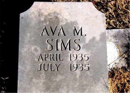 SIMS, AVA M - Newton County, Arkansas   AVA M SIMS - Arkansas Gravestone Photos