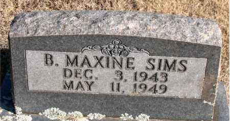 SIMS, B.  MAXINE - Newton County, Arkansas | B.  MAXINE SIMS - Arkansas Gravestone Photos