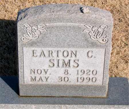 SIMS, EARTON C - Newton County, Arkansas | EARTON C SIMS - Arkansas Gravestone Photos