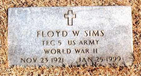 SIMS  (VETERAN WWII), FLOYD  W - Newton County, Arkansas | FLOYD  W SIMS  (VETERAN WWII) - Arkansas Gravestone Photos