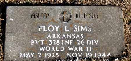SIMS (VETERAN WWII), FLOY L - Newton County, Arkansas | FLOY L SIMS (VETERAN WWII) - Arkansas Gravestone Photos
