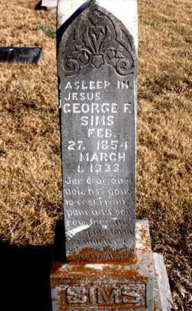 SIMS, GEORGE  F. - Newton County, Arkansas | GEORGE  F. SIMS - Arkansas Gravestone Photos
