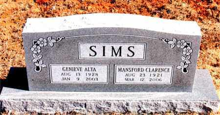 SIMS, MANSFORD CLARENCE - Newton County, Arkansas | MANSFORD CLARENCE SIMS - Arkansas Gravestone Photos
