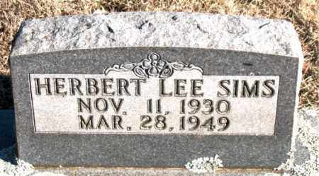 SIMS, HERBERT LEE - Newton County, Arkansas | HERBERT LEE SIMS - Arkansas Gravestone Photos