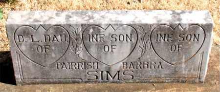 SIMS, INFANT  SON - Newton County, Arkansas | INFANT  SON SIMS - Arkansas Gravestone Photos