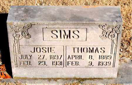 SIMS, JOSIE - Newton County, Arkansas | JOSIE SIMS - Arkansas Gravestone Photos