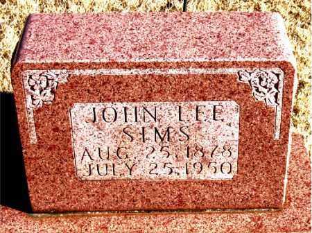 SIMS, JOHN LEE - Newton County, Arkansas | JOHN LEE SIMS - Arkansas Gravestone Photos