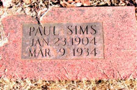SIMS, PAUL - Newton County, Arkansas | PAUL SIMS - Arkansas Gravestone Photos