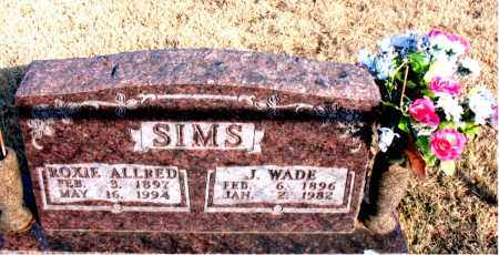 ALLRED SIMS, ROXIE - Newton County, Arkansas | ROXIE ALLRED SIMS - Arkansas Gravestone Photos