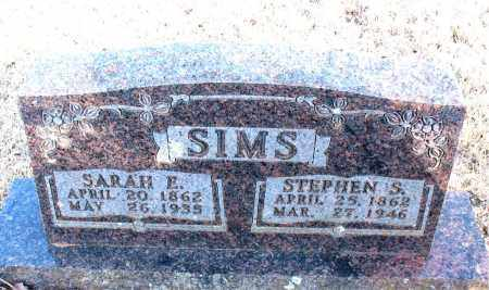 SIMS, STEPHEN S. - Newton County, Arkansas | STEPHEN S. SIMS - Arkansas Gravestone Photos