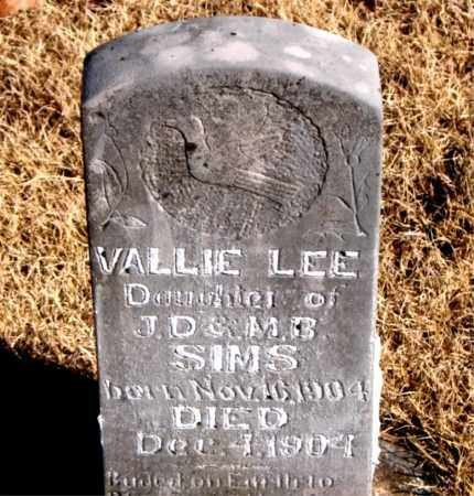 SIMS, VALLIE LEE - Newton County, Arkansas | VALLIE LEE SIMS - Arkansas Gravestone Photos