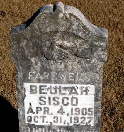 SISCO, BEULAH - Newton County, Arkansas | BEULAH SISCO - Arkansas Gravestone Photos
