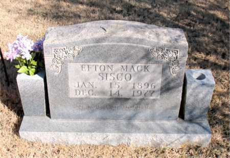 SISCO, EFTON MACK - Newton County, Arkansas | EFTON MACK SISCO - Arkansas Gravestone Photos