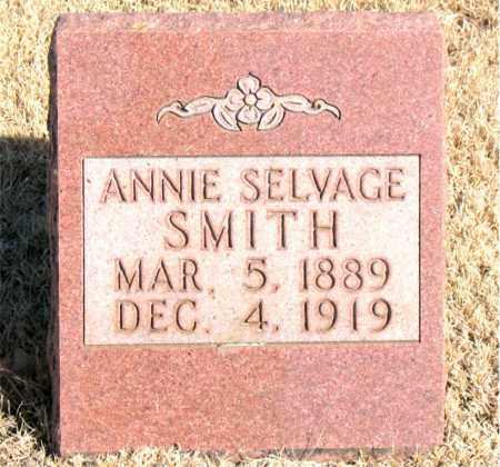 SELVAGE SMITH, ANNIE - Newton County, Arkansas | ANNIE SELVAGE SMITH - Arkansas Gravestone Photos