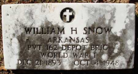 SNOW  (VETERAN WWI), WILLIAM H - Newton County, Arkansas | WILLIAM H SNOW  (VETERAN WWI) - Arkansas Gravestone Photos