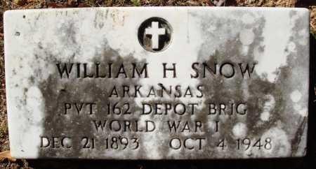SNOW  (VETERAN WWI), WILLIAM H - Newton County, Arkansas   WILLIAM H SNOW  (VETERAN WWI) - Arkansas Gravestone Photos