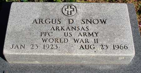 SNOW  (VETERAN WWII), ARGUS DORLIN - Newton County, Arkansas | ARGUS DORLIN SNOW  (VETERAN WWII) - Arkansas Gravestone Photos