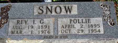 SNOW, POLLIE - Newton County, Arkansas | POLLIE SNOW - Arkansas Gravestone Photos