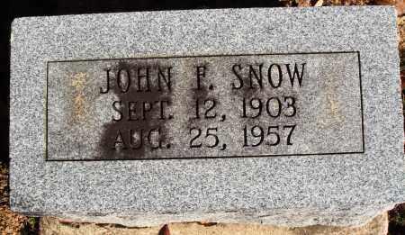 SNOW, JOHN F. - Newton County, Arkansas | JOHN F. SNOW - Arkansas Gravestone Photos