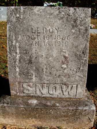 SNOW, LEROY - Newton County, Arkansas | LEROY SNOW - Arkansas Gravestone Photos