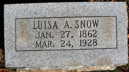 SNOW, LUISA A. - Newton County, Arkansas | LUISA A. SNOW - Arkansas Gravestone Photos
