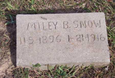 SNOW, MILEY B. - Newton County, Arkansas | MILEY B. SNOW - Arkansas Gravestone Photos