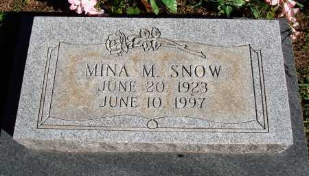 VAUGHN SNOW, MINA M. - Newton County, Arkansas | MINA M. VAUGHN SNOW - Arkansas Gravestone Photos