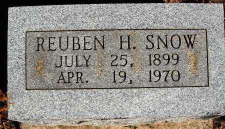 SNOW, REUBEN H. - Newton County, Arkansas | REUBEN H. SNOW - Arkansas Gravestone Photos