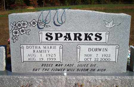SPARKS, DORWIN - Newton County, Arkansas | DORWIN SPARKS - Arkansas Gravestone Photos