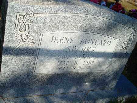 BONCARD SPARKS, IRENE - Newton County, Arkansas | IRENE BONCARD SPARKS - Arkansas Gravestone Photos