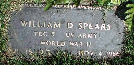 SPEARS (VETERAN WWII), WILLIAM D - Newton County, Arkansas | WILLIAM D SPEARS (VETERAN WWII) - Arkansas Gravestone Photos