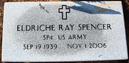SPENCER  (VETERAN), ELDRICHE RAY - Newton County, Arkansas | ELDRICHE RAY SPENCER  (VETERAN) - Arkansas Gravestone Photos