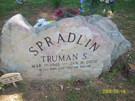SPRADLIN, TRUMAN S - Newton County, Arkansas | TRUMAN S SPRADLIN - Arkansas Gravestone Photos