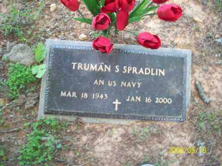 SPRADLIN  (VETERAN), TRUMAN S - Newton County, Arkansas | TRUMAN S SPRADLIN  (VETERAN) - Arkansas Gravestone Photos