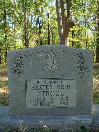 RICH STRODE, HESTER - Newton County, Arkansas | HESTER RICH STRODE - Arkansas Gravestone Photos
