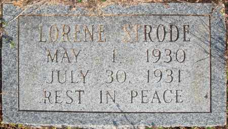 STRODE, LORENE - Newton County, Arkansas | LORENE STRODE - Arkansas Gravestone Photos