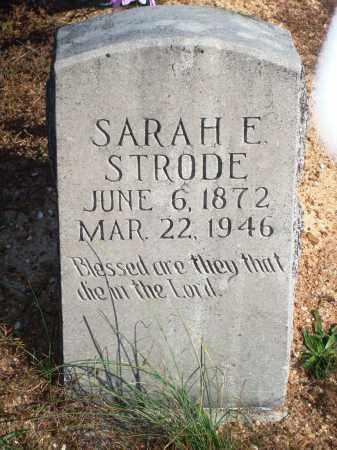 STRODE, SARAH E. - Newton County, Arkansas | SARAH E. STRODE - Arkansas Gravestone Photos