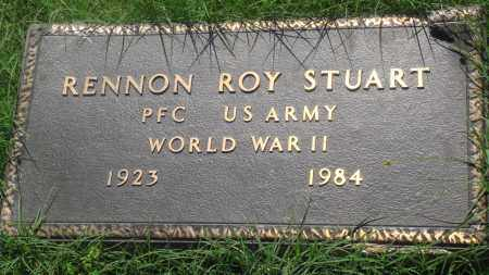 STUART (VETERAN WWII), RENNON ROY - Newton County, Arkansas | RENNON ROY STUART (VETERAN WWII) - Arkansas Gravestone Photos