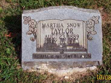 SNOW TAYLOR, MARTHA - Newton County, Arkansas | MARTHA SNOW TAYLOR - Arkansas Gravestone Photos