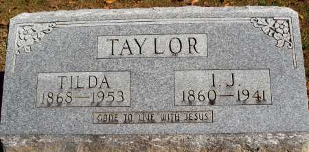 TAYLOR, ICE J. - Newton County, Arkansas | ICE J. TAYLOR - Arkansas Gravestone Photos