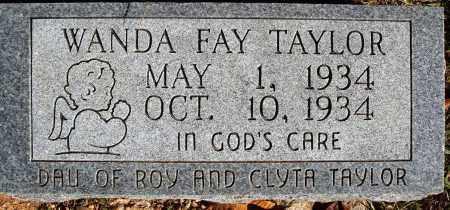 TAYLOR, WANDA FAY - Newton County, Arkansas | WANDA FAY TAYLOR - Arkansas Gravestone Photos