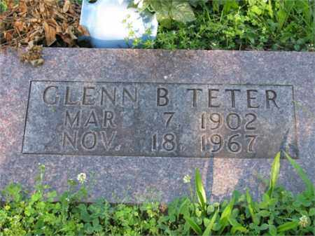 TETER, GLENN B. - Newton County, Arkansas | GLENN B. TETER - Arkansas Gravestone Photos