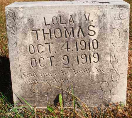 THOMAS, LOLA V. - Newton County, Arkansas | LOLA V. THOMAS - Arkansas Gravestone Photos