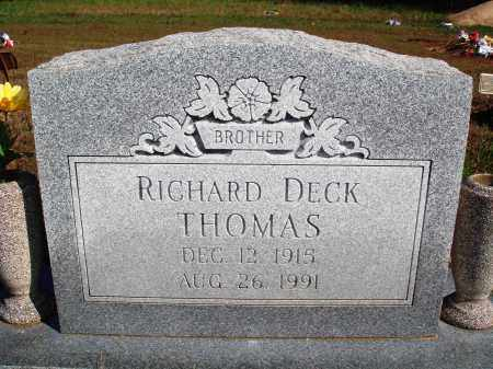 THOMAS, RICHARD DECK - Newton County, Arkansas | RICHARD DECK THOMAS - Arkansas Gravestone Photos