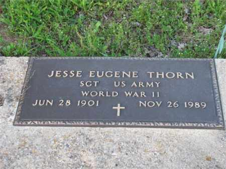 THORN (VETERAN WWII), JESSE EUGENE - Newton County, Arkansas | JESSE EUGENE THORN (VETERAN WWII) - Arkansas Gravestone Photos