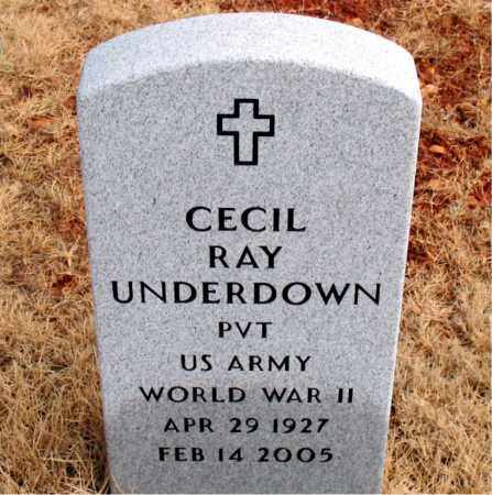 UNDERDOWN  (VETERAN WWII), CECIL RAY - Newton County, Arkansas | CECIL RAY UNDERDOWN  (VETERAN WWII) - Arkansas Gravestone Photos