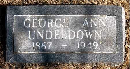 UNDERDOWN, GEORGE ANN - Newton County, Arkansas | GEORGE ANN UNDERDOWN - Arkansas Gravestone Photos